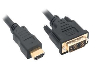 Nippon Labs DVI-3-HDMI-2P 10 ft. HDMI Male to DVI-D Adapter Cable with Gold-plated Connector, Black (2-Pack)