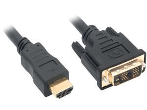 Nippon Labs DVI-2-HDMI-2P 6 ft. HDMI Male to DVI-D Adapter Cable with Gold-plated Connector, Black (2-Pack)