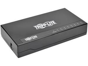 Tripp Lite 8-Port Gigabit Ethernet Switch, Desktop, Unmanaged Network Switch, 10/100/1000 Mbps, RJ45, Plastic Housing (NG8P)