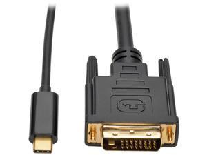 Tripp Lite USB C to DVI Adapter Converter Cable 1080p Type C to DVI 6ft (U444-006-D)