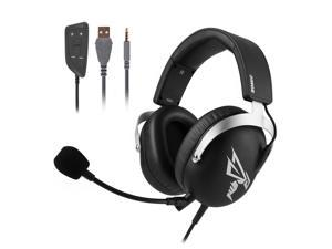 SOMIC G805 High Quality 3.5MM USB E-sports PS4 PS5 XBOX Gaming Headset with Detachable Microphone Virtual 7.1 Surround Sound Black