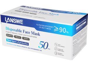 LANSWE Disposable Face Mask - 10 pcs per Pack and 50 pcs per Box