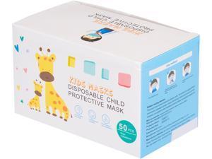 Blue Arrow Disposable Child Protective Mask for Boys, Size: 125 x 80 mm, Blue, 50 pcs per Box