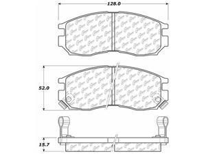 C-TEK BY CENTRIC 102.04840 CTEK METALLIC BRAKE PADS