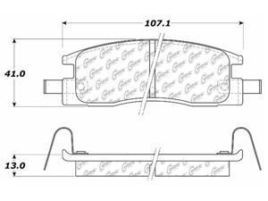 C-TEK BY CENTRIC 102.03980 CTEK METALLIC BRAKE PADS