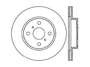 CENTRIC PARTS 121.44077 Standard Brake Rotor