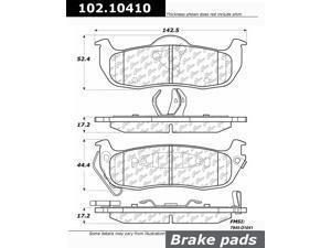 CENTRIC PARTS 102.10410 Metallic Pads
