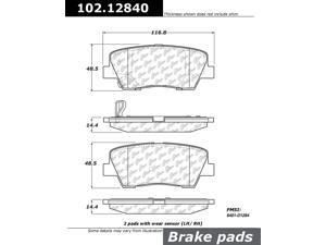 CENTRIC PARTS 102.12840 Metallic Pads