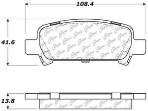 C-TEK BY CENTRIC 102.07700 CTEK METALLIC BRAKE PADS