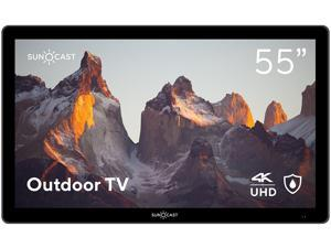 """Suncast 55"""" Outdoor Partial Shade 4K UHD LED TV with Waterproof Remote + Compatible Wall Mount (SNCT5500)"""