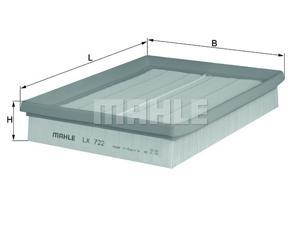 MAHLE ORIGINAL LX 722 Air Filter