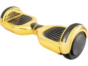 AOB Gold Chrome Hoverboard with Bluetooth Speakers