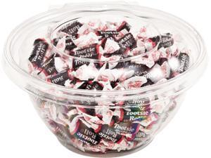 Advantus 40604 Tootsie Roll Break Bites, Chocolate Candy, 17oz Bowl