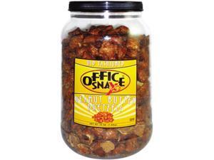 Office Snax 375 Pretzel Assortment, Peanut Butter, 44 oz, Canister