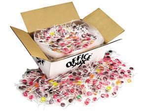 Office Snax 00004 Lick Stix Suckers, Seven Assorted Fruit Flavors, 1440/Carton