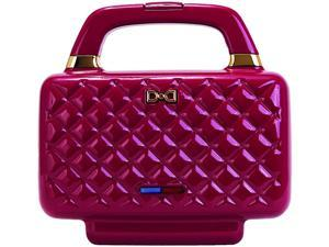 Dash K45805 Burgundy Nonstick Couture Sandwich Maker, Burgundy