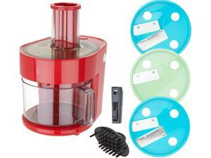 Dash K47971 Series 7-in-1 Food Processor Prep Master, Red