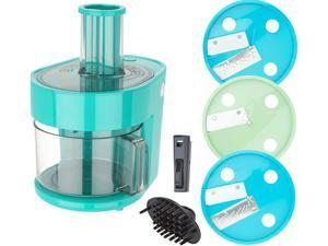 Dash K47971 Series 7-in-1 Food Processor Prep Master, Turquoise