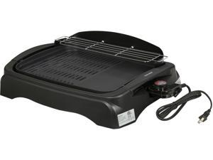Tayama TG-863XL Non-Stick Electric Grill with Ribbed and Solid Surface, Black