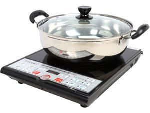 Tayama 1500 Watts Digital Induction Cooktop with Pot and Lid SM15-16A3