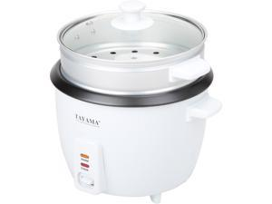 Tayama RC-8  8 Cups Uncooked / 16 Cups Cooked Rice Cooker with Steam Tray, White