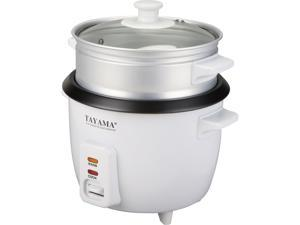 Tayama RC-3 3 Cups Uncooked / 6 Cups Cooked Rice Cooker with Steam Tray, White