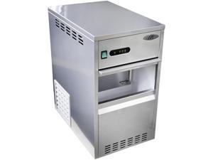 SZB-40 88 lbs. Freestanding Flake Ice Maker in Stainless Steel