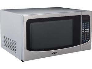 Oster 1000 Watts Family-Size 1.6-Cu. Ft. Countertop Microwave Oven with Push-Button Open OGCMB916S5-10 Stainless Steel