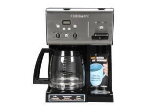 Cuisinart CHW-12 Black/Steel Black/Stainless Coffee Plus 12-Cup Programmable Coffeemaker