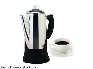 Maxi-Matic EC-120 Stainless steel 12 Cup Automatic Tea & Coffee Percolator