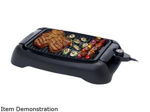 """Elite Cuisine EGL-3450 13"""" Countertop Indoor Grill, Black"""