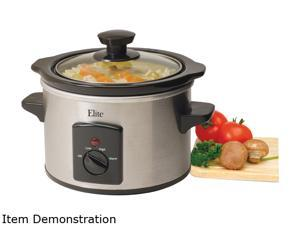 Maxi-Matic 1.5Qt. Mini Slow Cooker, Stainless Steel MST-250XS