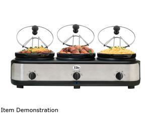 Maxi-Matic EWMST-325 7.5 Qt. Triple Slow Cooker