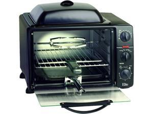 Maxi-Matic ERO-2008S Black 6 Slice Toaster Oven Broiler w/ Rotisserie, Grill & Griddle