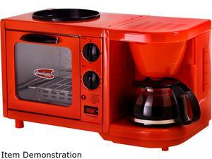 Maxi-Matic Elite EBK-200R Red 3-in-1 Multifunction Breakfast Center