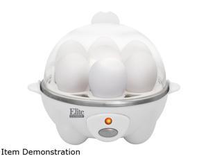 Elite Cuisine EGC-007 Automatic Easy Egg Cooker, 7 Eggs, White