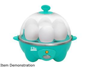 Elite Cuisine EGC-007T Automatic Easy Egg Cooker, 7 Eggs, Teal