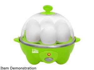 Elite Cuisine EGC-007G Automatic Easy Egg Cooker, 7 Eggs, Green
