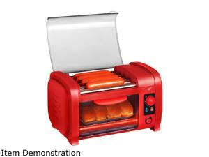 Elite EHD-051R Red Hot Dog Toaster with Grill Rollers