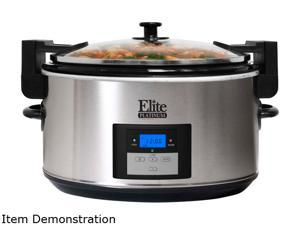 Elite MST-900VXD Stainless Steel 8.5 Qt. Platinum 8.5 Qt. Programmable Slow Cooker With Locking Lid