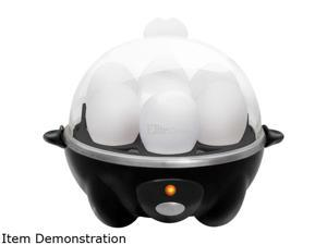 Elite Cuisine EGC-007B Egg Cooker with 7 Egg Capacity, Black