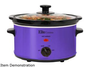 Elite MST-275XP Purple Gourmet Slow Cooker, 2 quarts, Purple