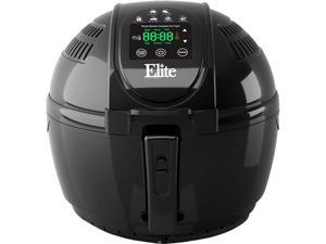 Elite EAF-2500D Two-Tiered Electric Digital Air Fryer 3.5-Quart 1400W Black Includes Recipe Book with 26 Colored Recipes