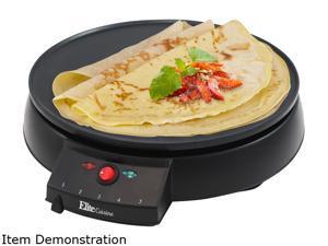 """Elite ECP-126 Black Cuisine 12"""" Crepe Maker & Griddle"""