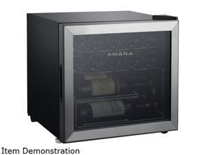 Amana AMAW16S2MS 16-Bottle Single-Zone Wine Cooler with Mechanical Temperature Control Stainless
