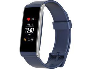 MyKronoz ZEFIT4HR Activity & Heart Rate Tracker with Color Touchscreen - Blue/Silver