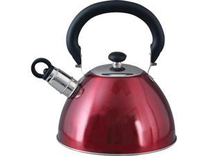 MR. COFFEE 72750.03 Red Morbern 1.8-Quart Whistling Tea Kettle Red