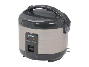 Tiger JNP-S55U Rice Cooker and Warmer, Stainless Steel Gray, 6 Cups Cooked/ 3 Cups Uncooked Made in Japan