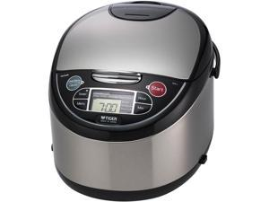 Tiger JAX-T18U Microcomputer Controlled Multifunctional Rice Cooker, Black, 20 Cups Cooked/10 Cups Uncooked Made in Japan