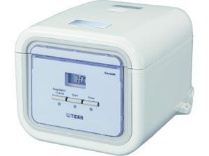 Tiger JAJ-A55U-WS Microcomputer Controlled Rice Cooker / Warmer, White